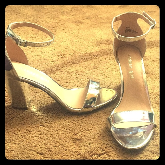 d74a799d222 Madden Girl Shoes - Madden Girl Silver Beella Dress Sandal